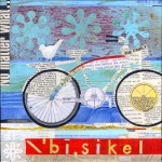 """BisikelSOLDPaper Collage on Canvas10"""" x 10"""""""