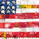 """We the PeopleSOLDPaper Collage on Canvas26"""" x 48"""""""