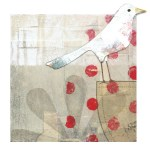 Dot Topper I      SOLD            Mixed Media on Wood Panel       7″ x 7″