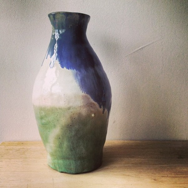 high school pottery vase