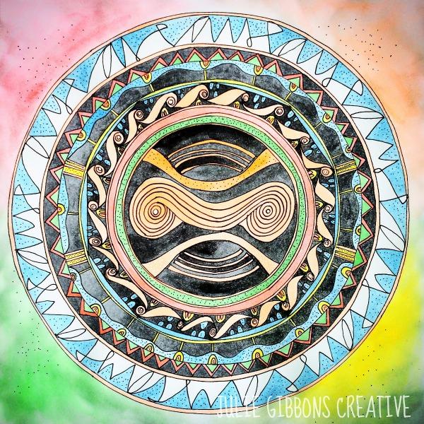divine eyes mandala