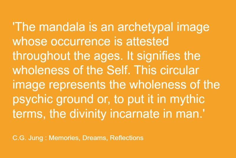 Carl Jung Mandala Quote