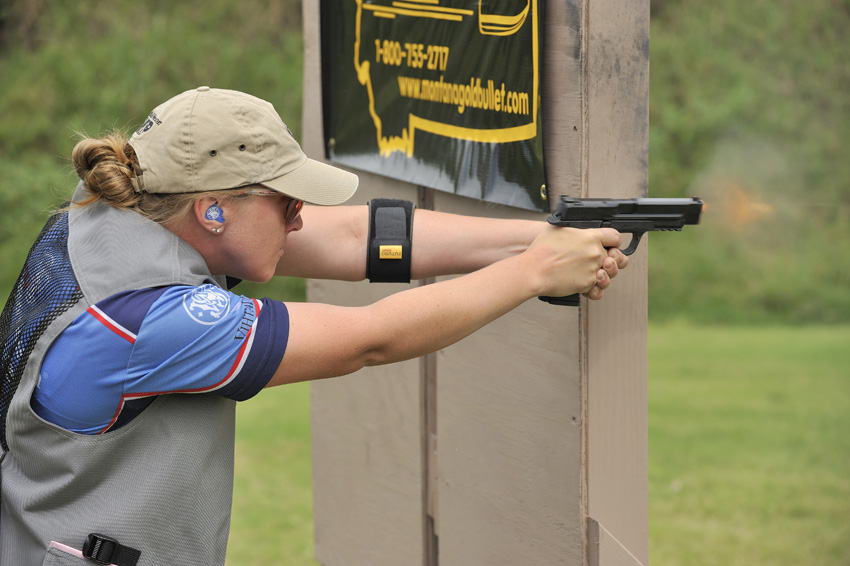 With the ability to switch gears to defensive shooting scenarious, Julie is a 2-time Press, 3-time Winter National and 4-time Ladies National Champion in IDPA.