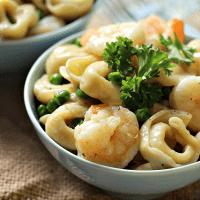 Garlic Shrimp Tortellini Toss