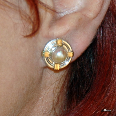 Pink Pearl Clip on Earring