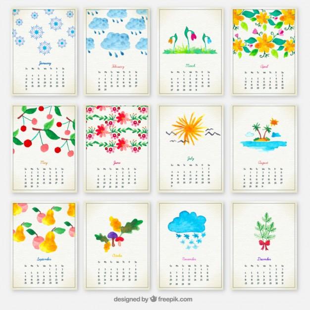 Calendario 2016 Gratuito para Descargar con Dibujos