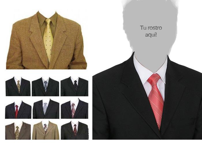 maqueta para colocar tu rostro en un traje para curriculum