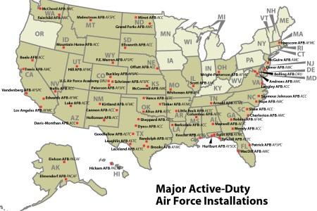 map of army installations