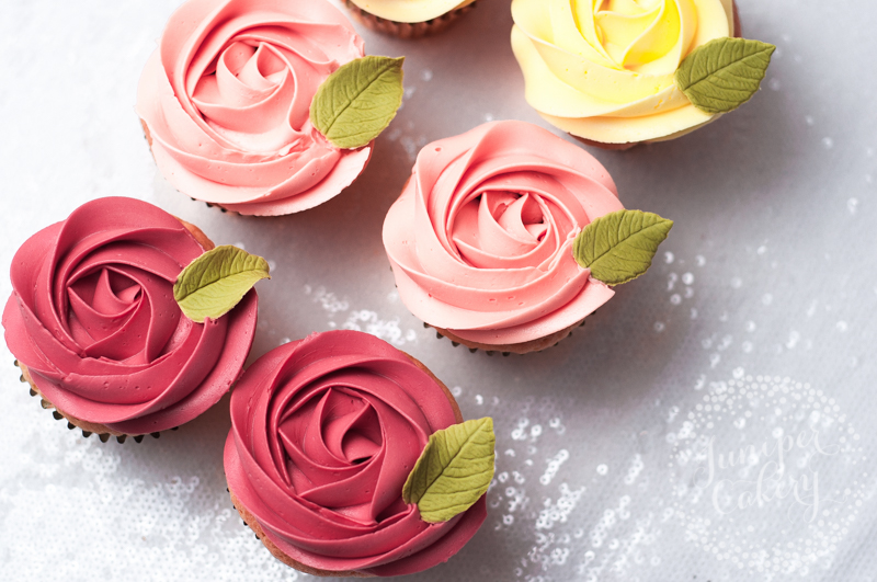 Rose cupcakes by Juniper Cakery