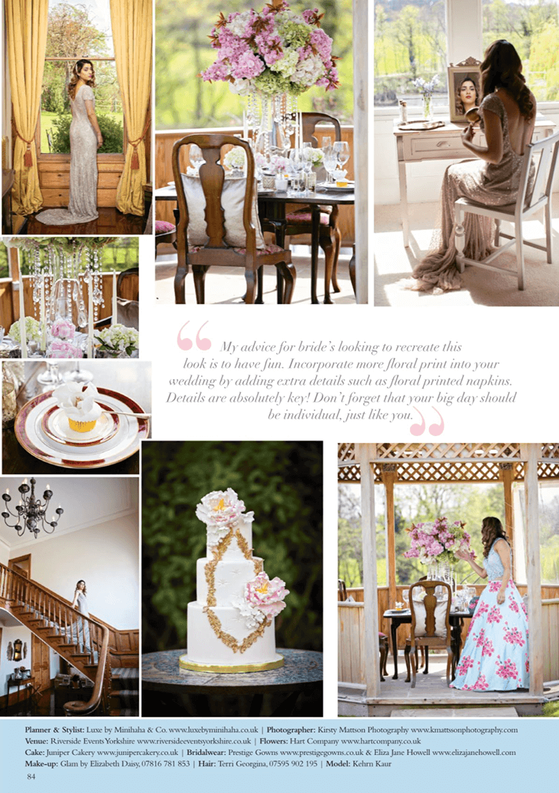 Juniper Cakery in Your Yorkshire Wedding magazine