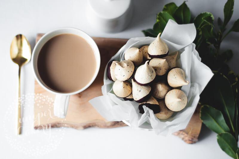 Mocha meringue kisses recipe for Autumn treats