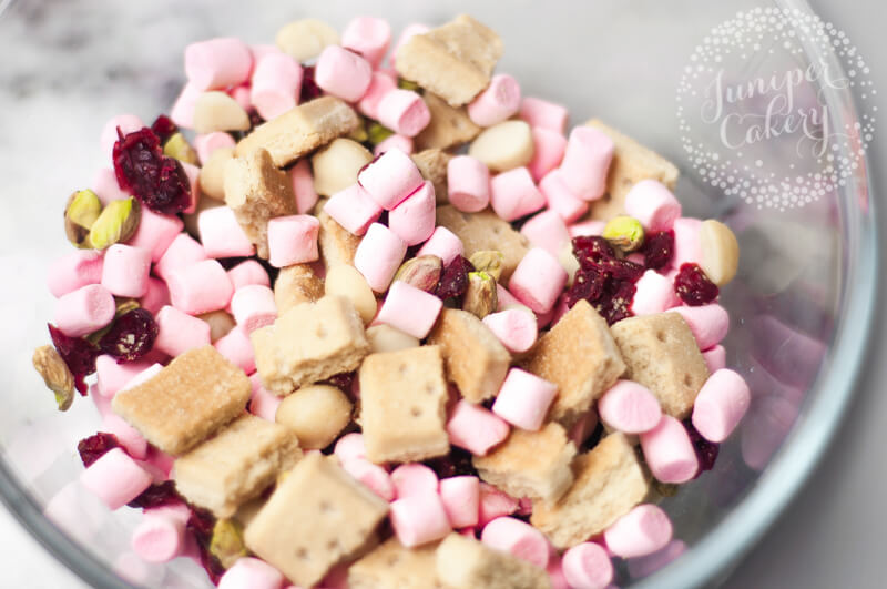Festive rocky road recipe from Juniper Cakery