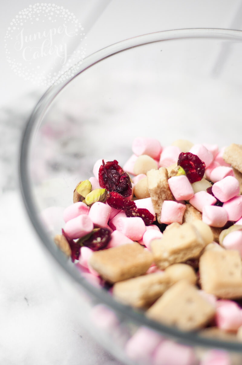 White chocolate rocky road recipe from Juniper Cakery