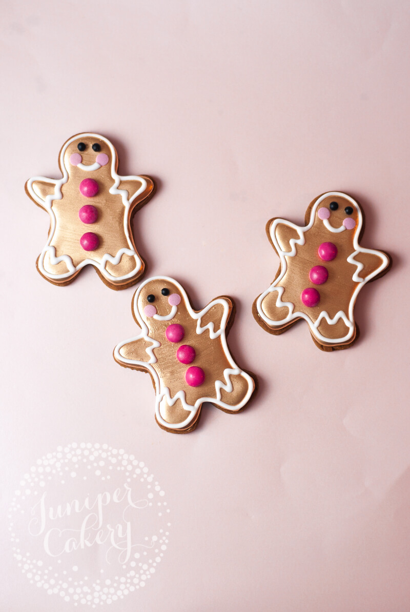 Festive gingerbread cookies recipe from Juniper Cakery