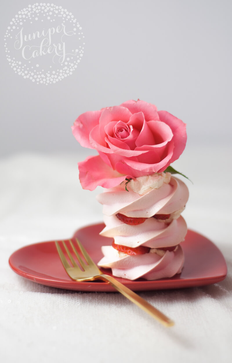 Valentine pavlova recipe by Juniper Cakery