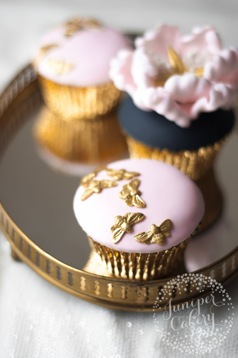 Beautiful peony cupcakes by Juniper Cakery
