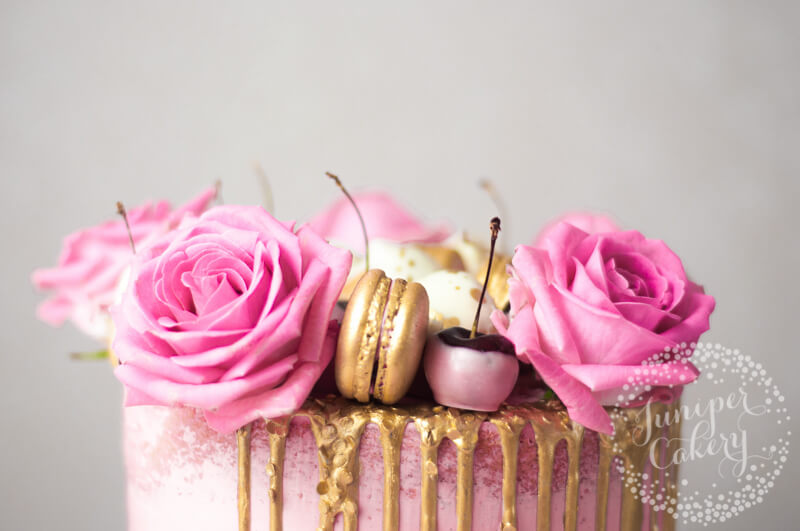 Pretty in pink cherry cake for Royal Albert
