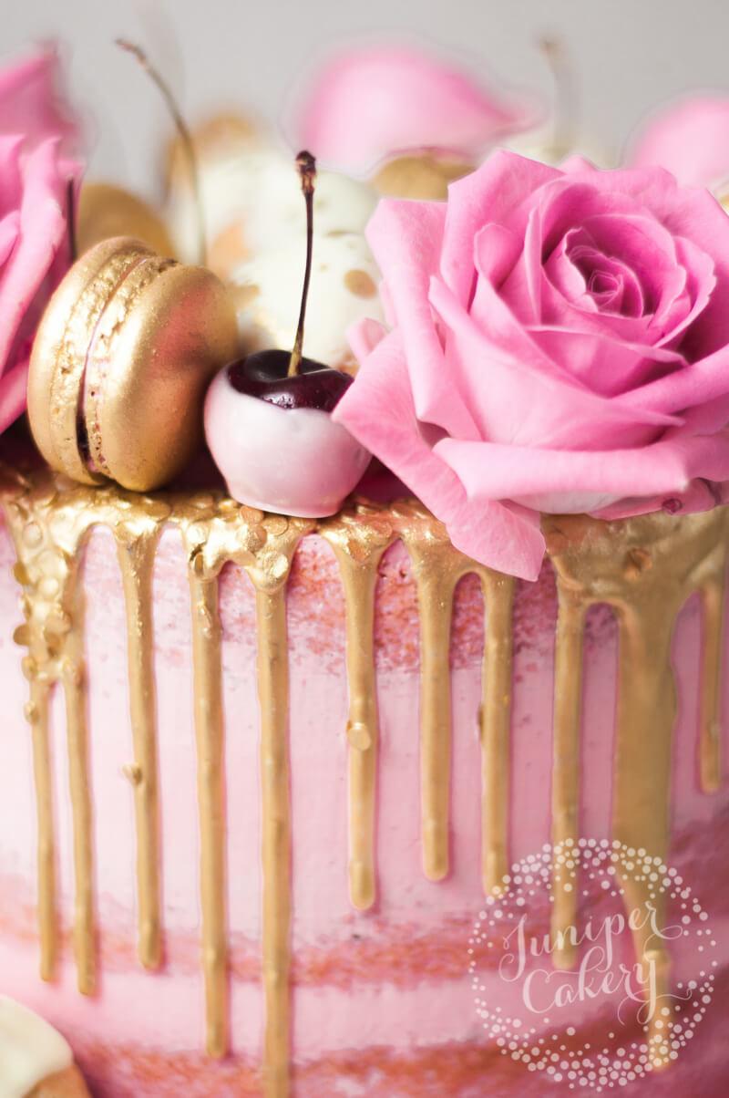 Cherry and white chocolate cake recipe by Juniper Cakery for Royal Albert and Miranda Kerr