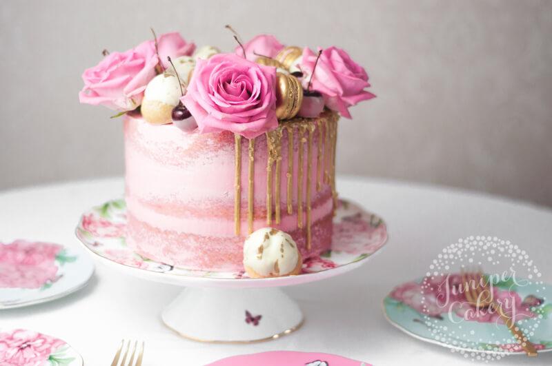 Cherry and white chocolate cake recipe by Juniper Cakery for Royal Albert