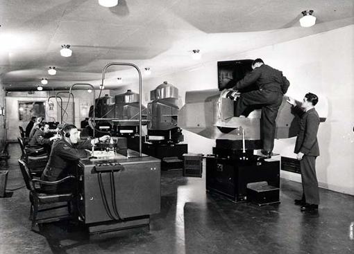 A Link Trainer flight simulator used at No 19 Elementary Flying Training School, Virden, Manitoba, October 1944.