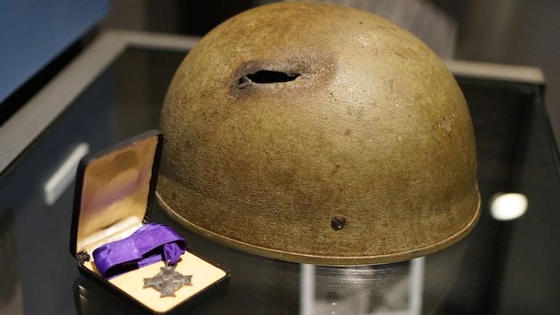 La Croix Helmet and Medal
