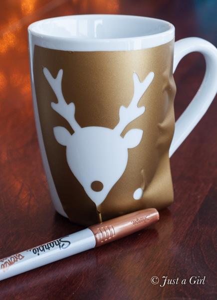 Bronze reindeer mug