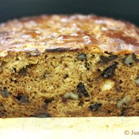 Gluten Free Banana Bread with Dark Chocolate Chunks & Walnut