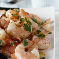 Spanish Garlic Shrimp & Catalan Style Spinach