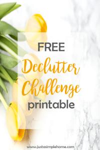 Free Declutter Challenge printable