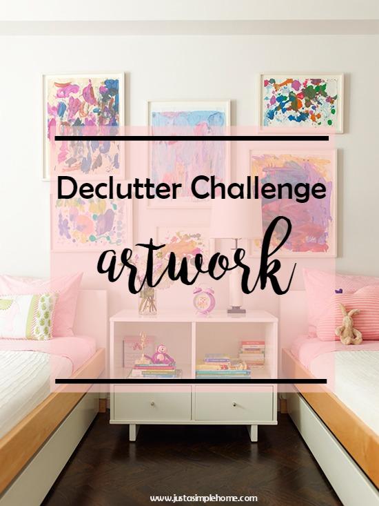 Declutter Challenge - Kids Artwork