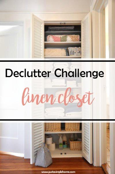 Declutter Challenge Linens