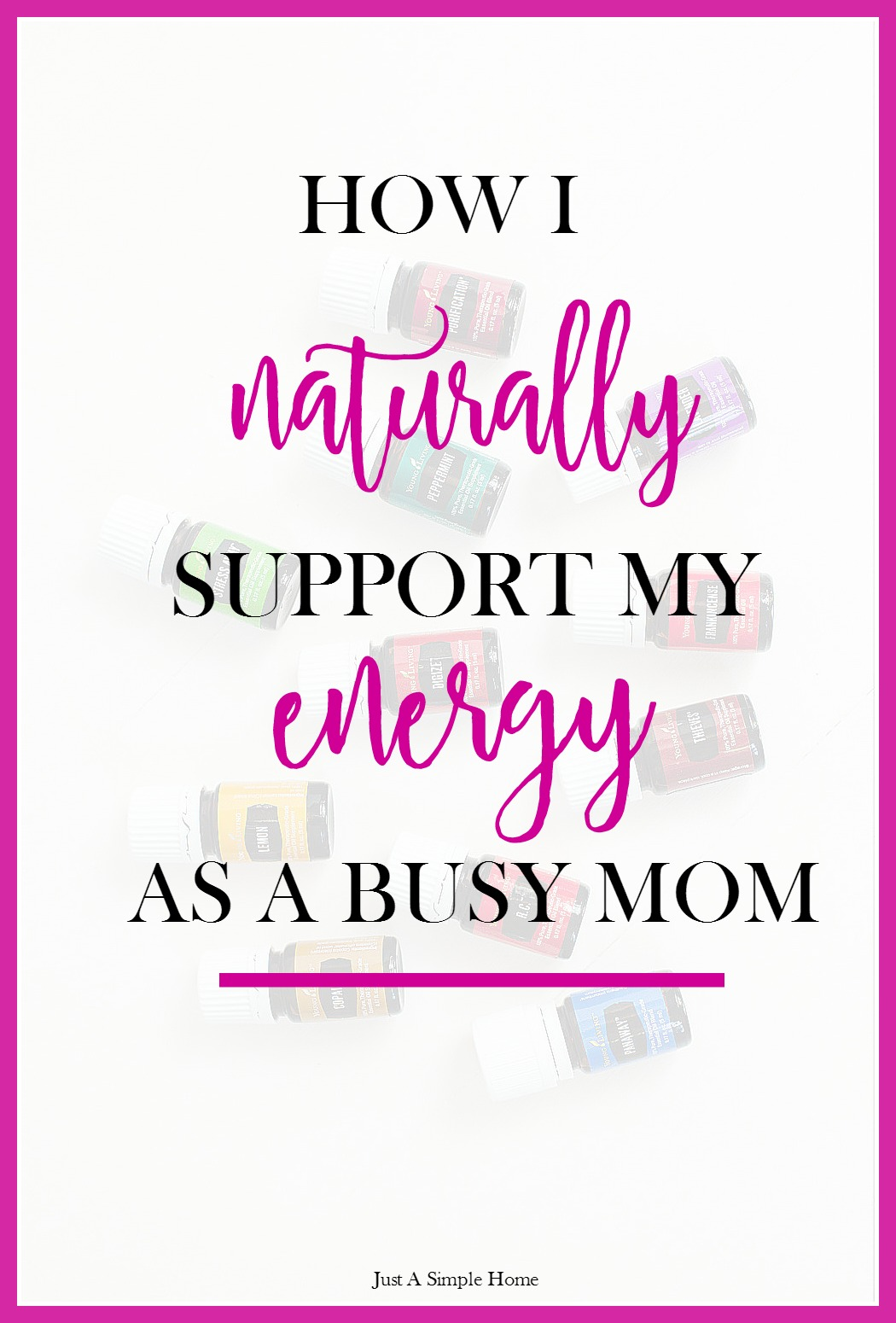 How I Naturally Support My Energy- Just A Simple Home