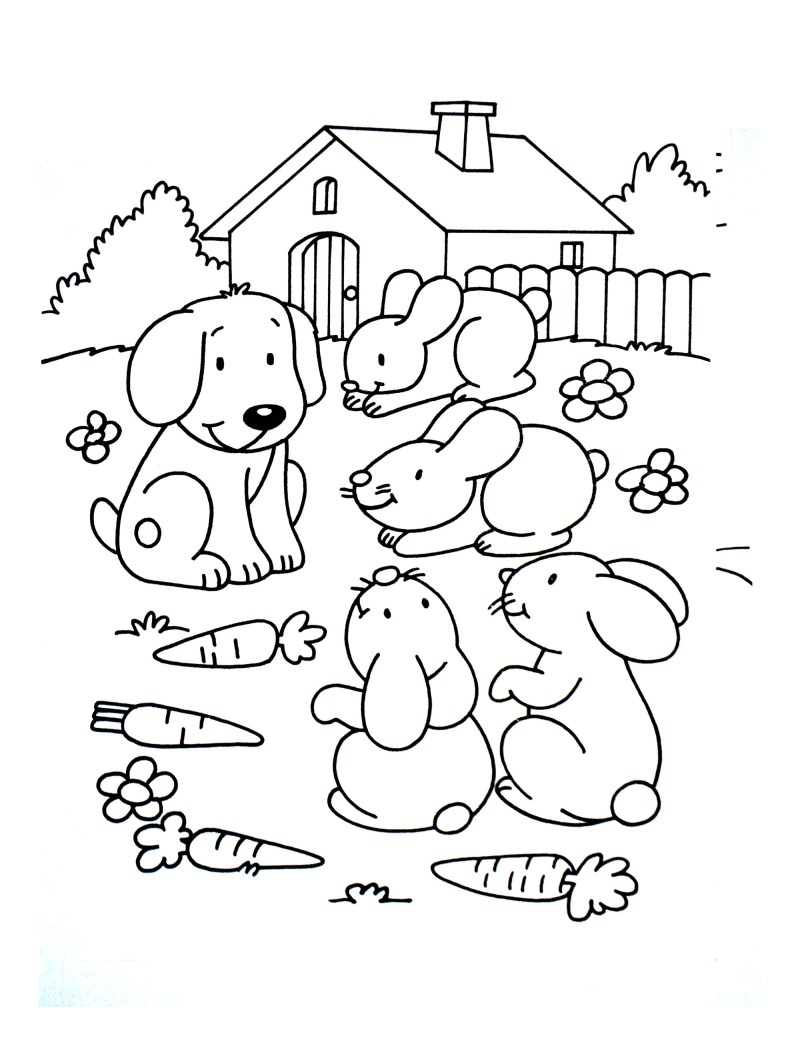 Large Of Dog Coloring Pages For Adults