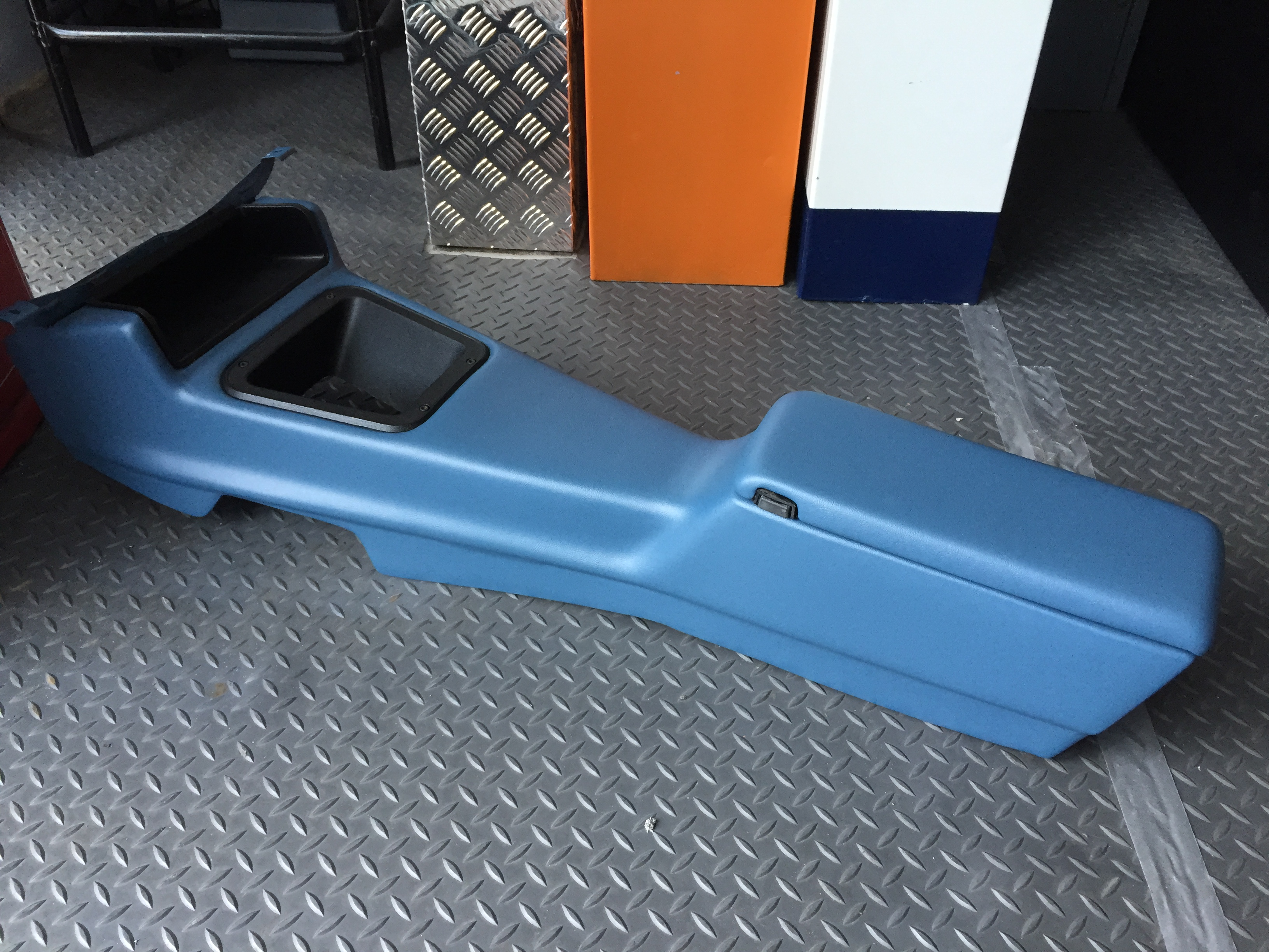 Glove box for center console boat