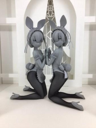 Wonder-Festival-Winter-2017-FREEing-Prototype-Re-Zero-Kara-Hajimaru-Isekai-Sekatsu-Rem-&-Ram-Bunny-Version