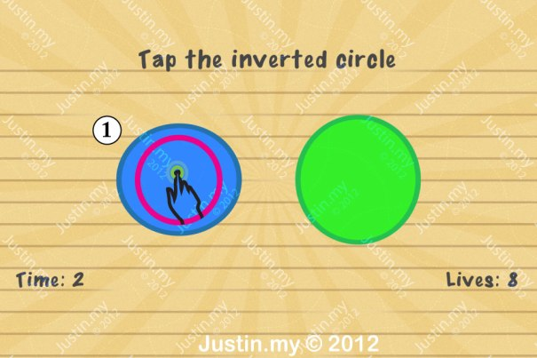 Impssible Test 2 - Tap the inverted circle