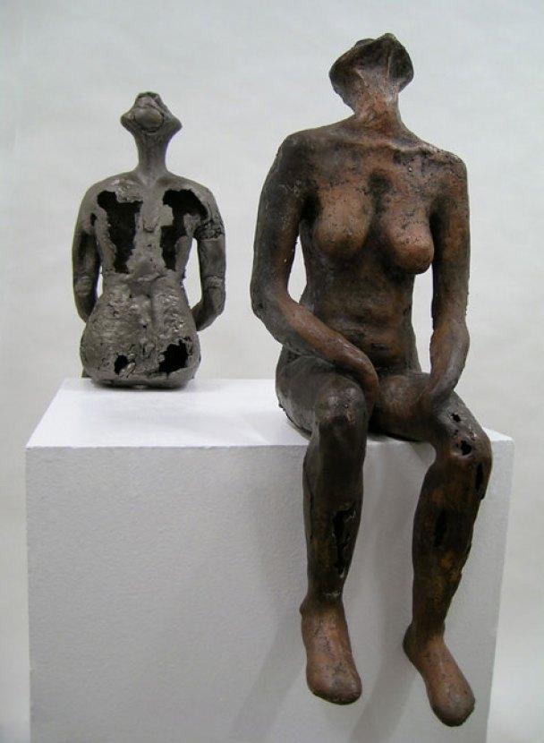 "Cast Bronze and Iron, 8"" x 23"" x 8"" - 2005"