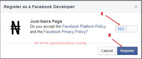 register as facebook developer