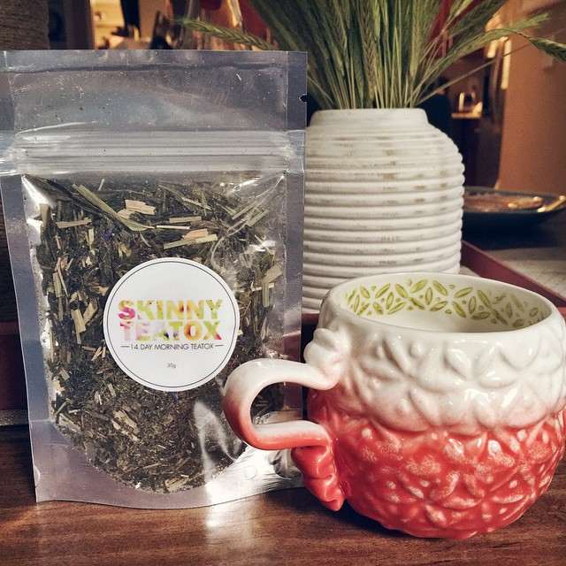 So excited to start my 14-day @skinnyteatox! Let's see how…