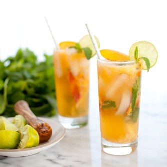 Ginger Peach Mojito Mocktail