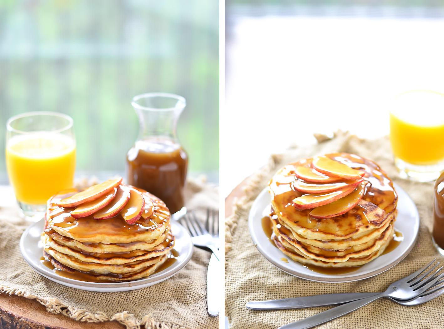 Apple Pancake Collage