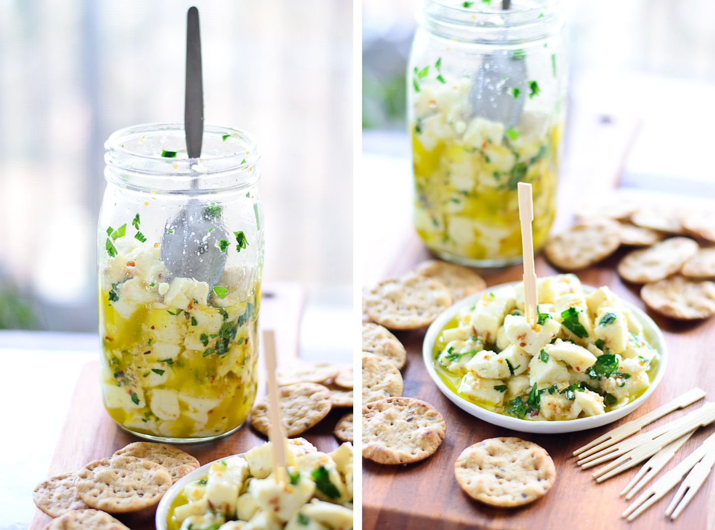 Marinated Cheese Collage