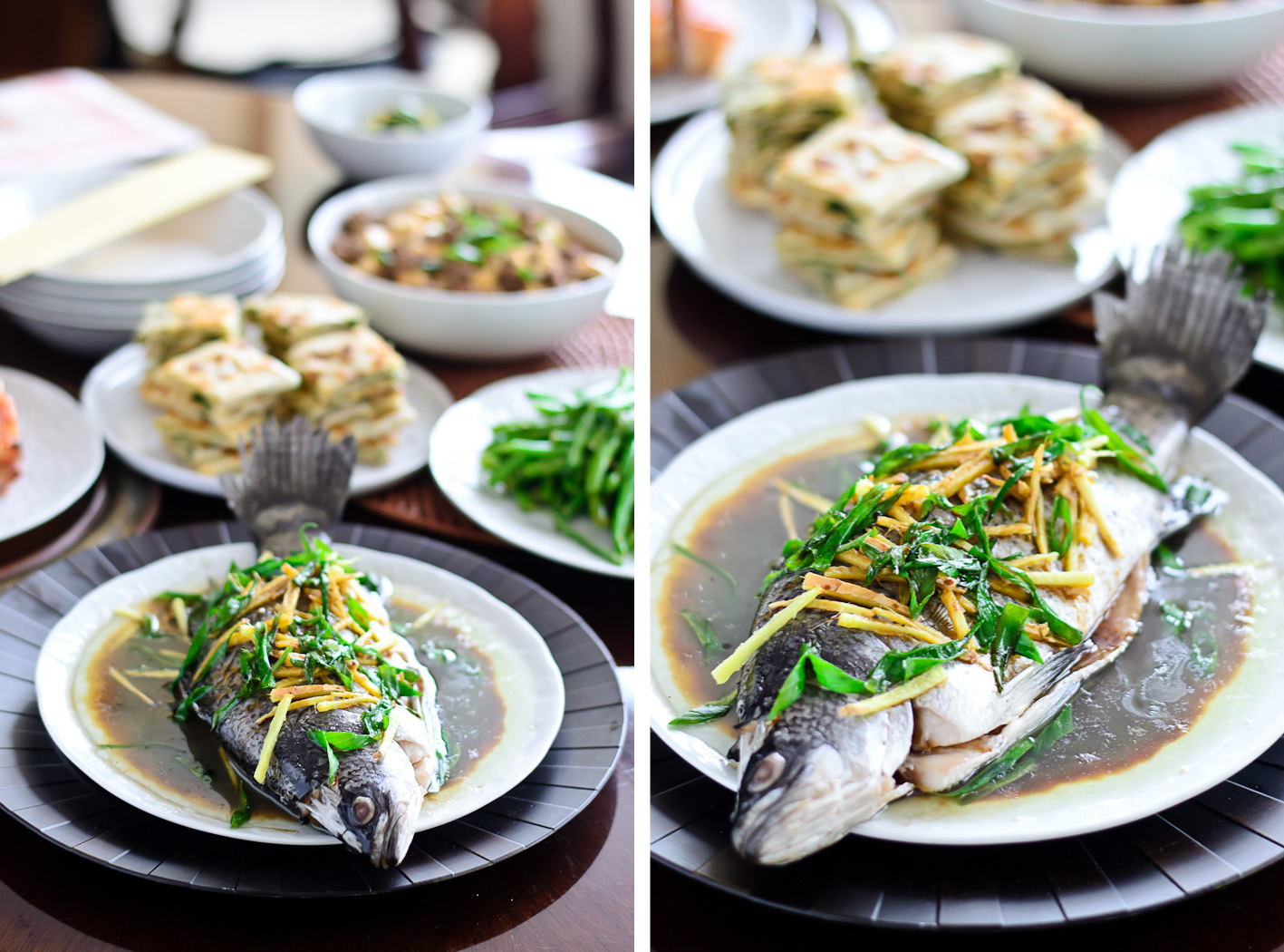 Steamed Fish Collage