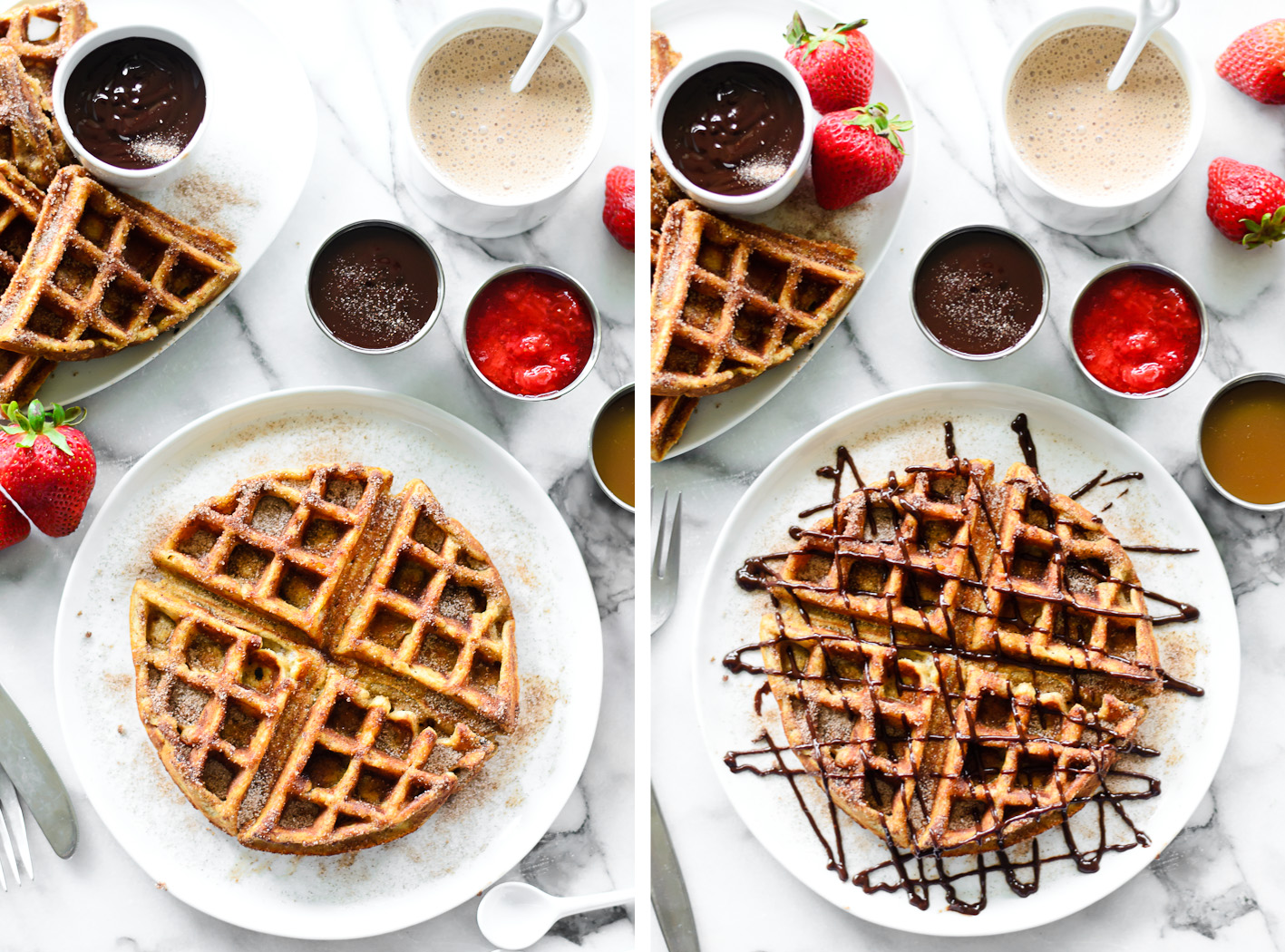 Churro Waffles Collage 1
