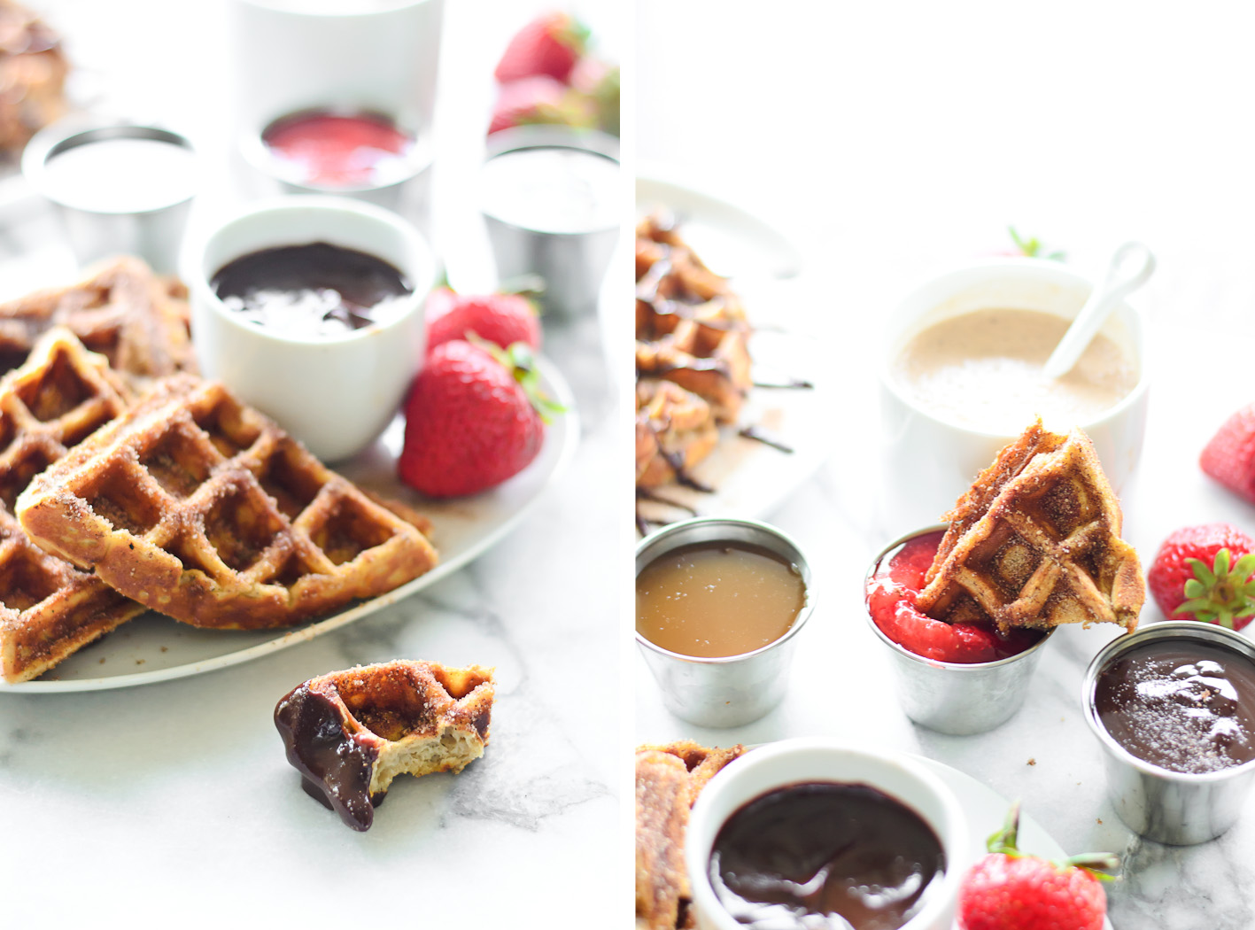 Churro Waffles Collage 2