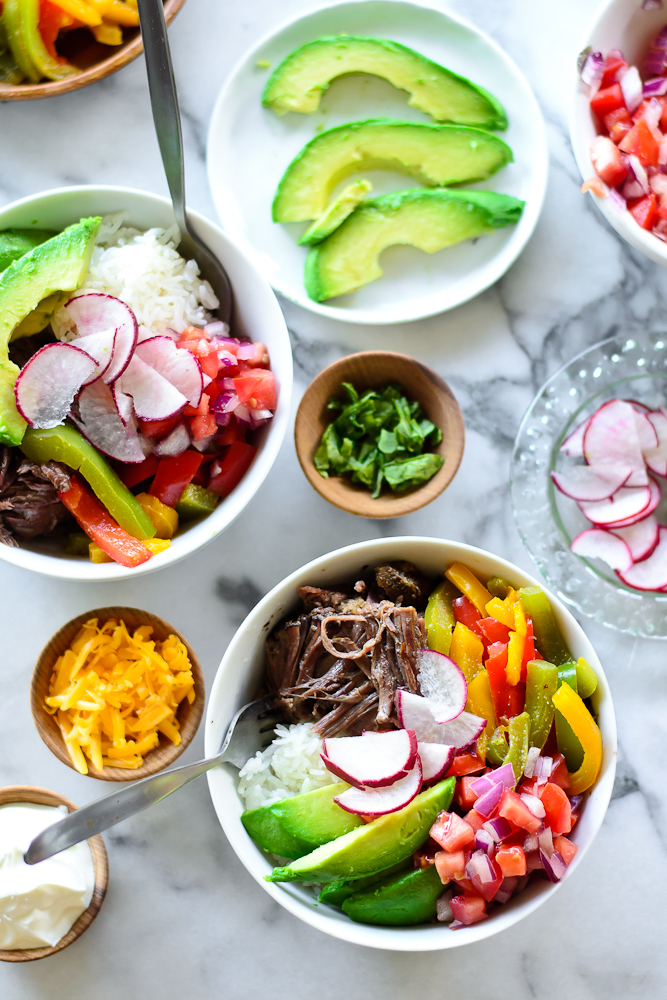 Crock Pot Short Rib Burrito Bowls