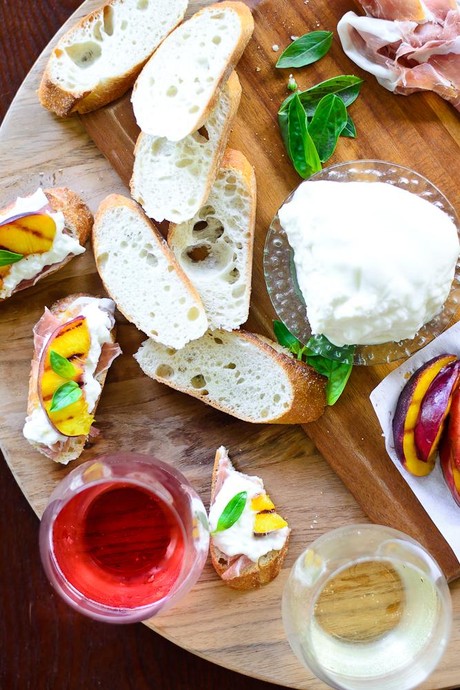 Grilled Nectarine Toasts 25
