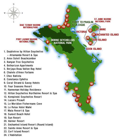 map seychelles island