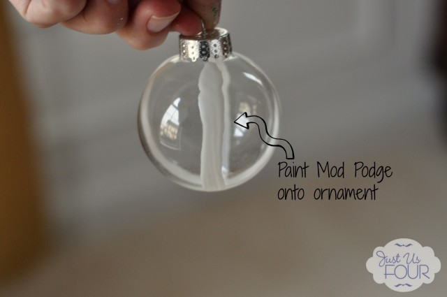 Mod Podge on ornament with Label_wm