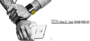Samsung Note 3 and Samsung Galaxy Smartwatch Juuchini